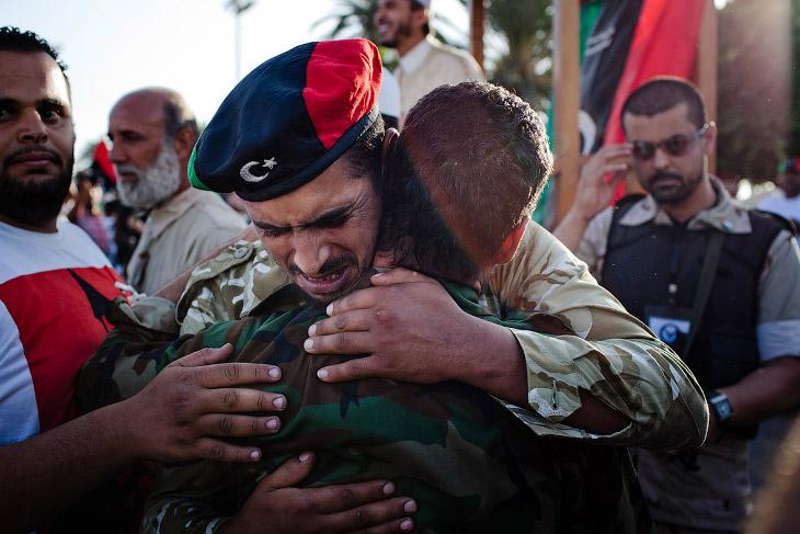 Ливийские повстанцы в Триполи