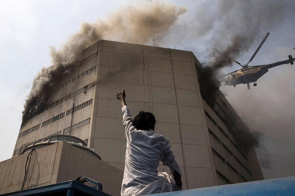 Крупный пожар в Лахоре, Пакистан