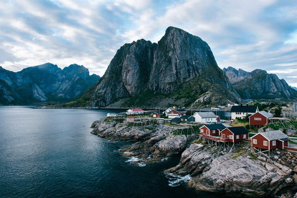 Рыбацкая деревушка в Норвегии