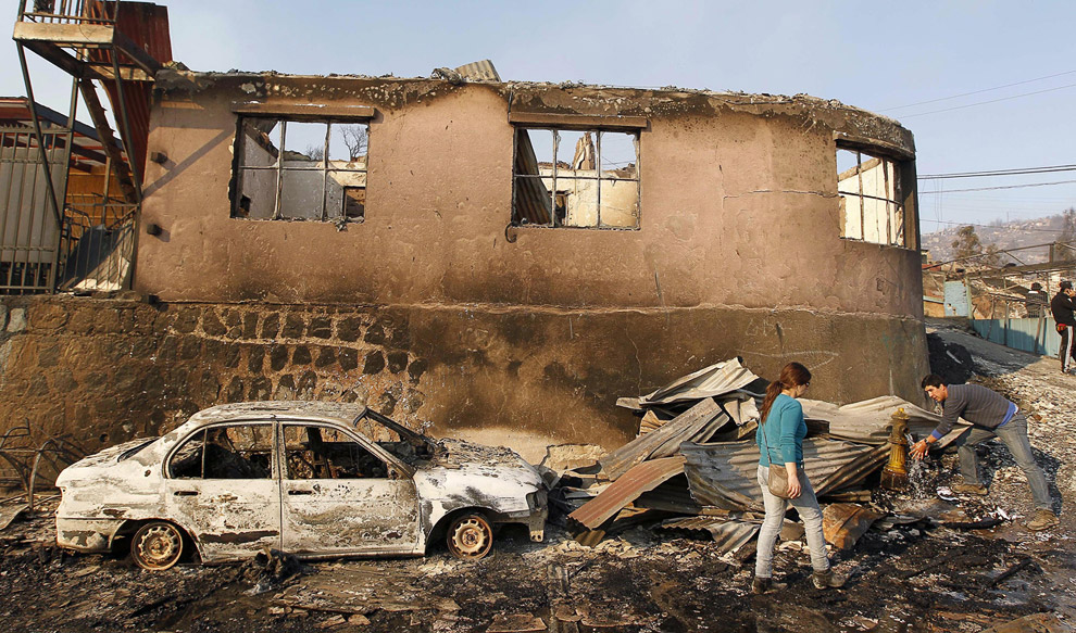 Рекордный пожар в Вальпараисо