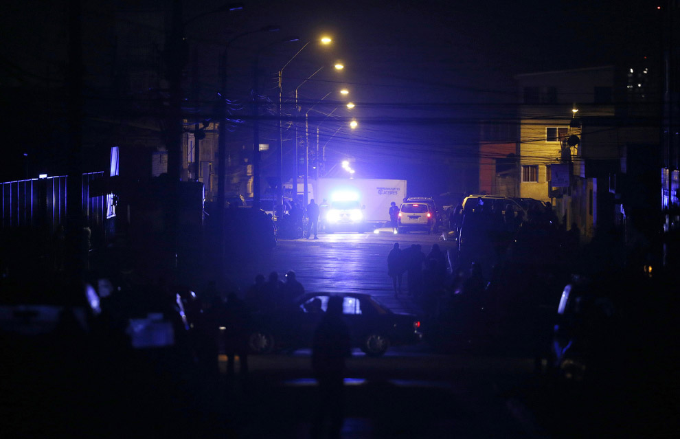 Улицы, перекрытые полицией