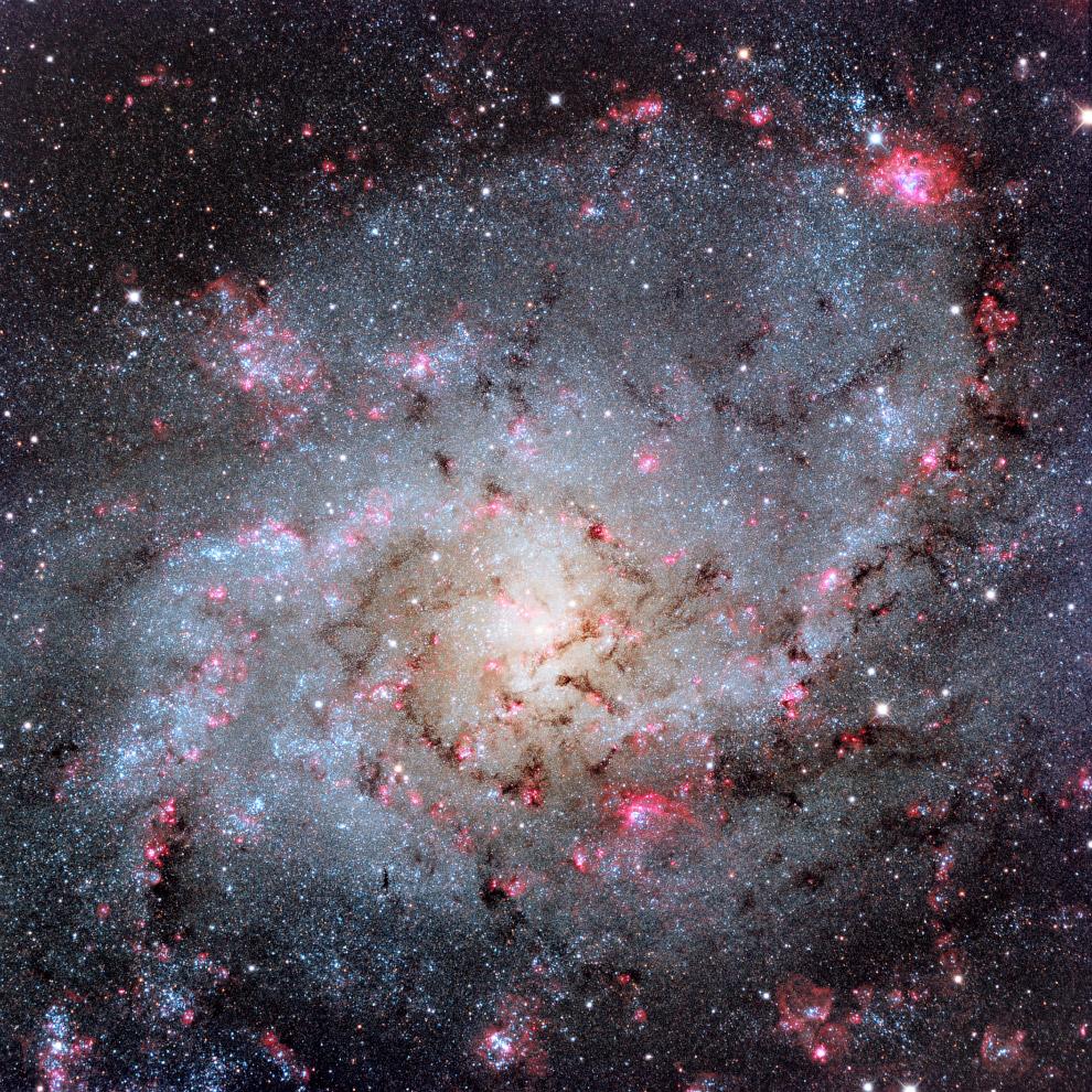 Водородные облака в спиральной галактике M33