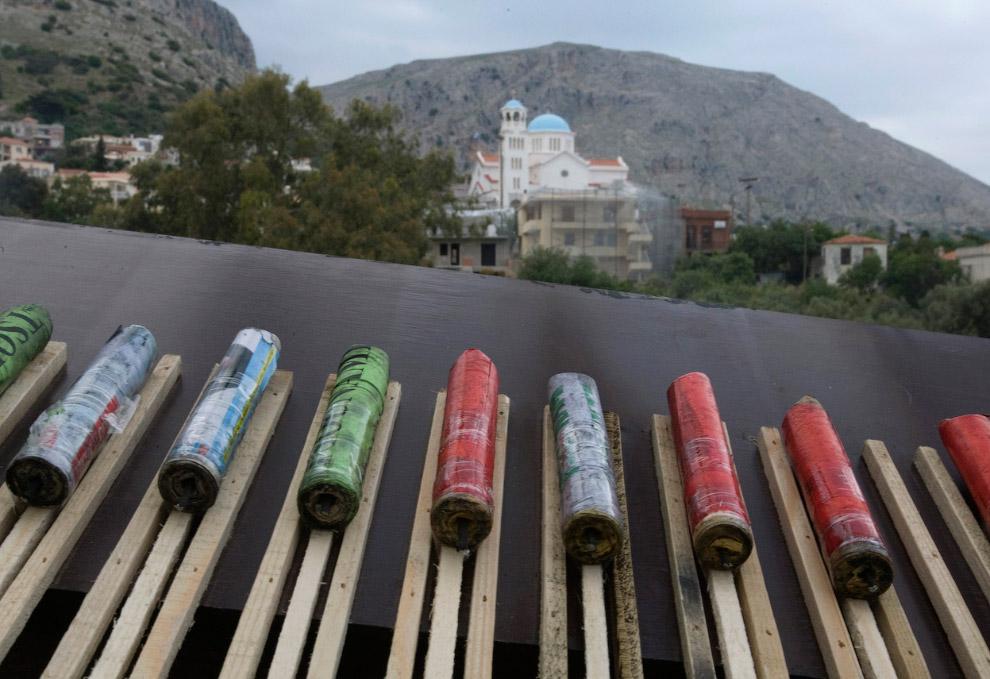 Ракеты не китайские, а самодельные, настоящий hand-made