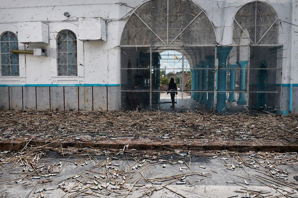 Так выглядят церкви после ночного артобстрела на Пасху, город Вронтадос