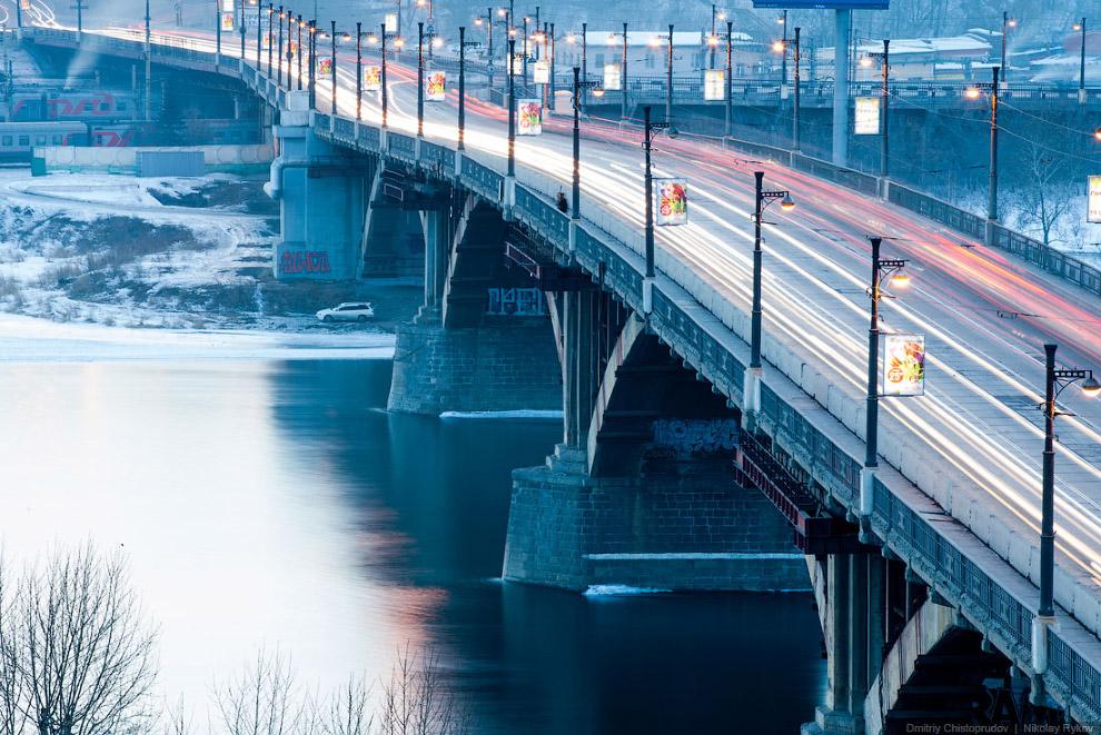 Глазковский мост через реку Ангару