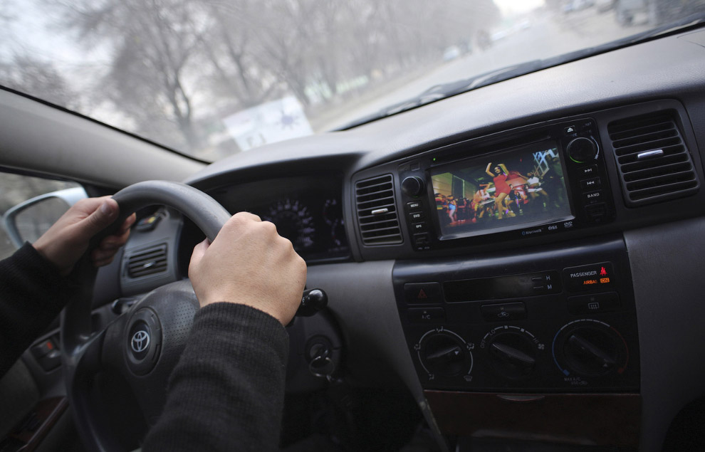 Тойота с ДВД-проигрывателем
