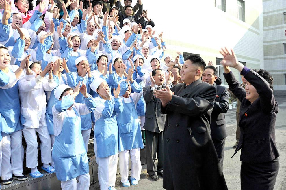 Визит Ким Чен Ына на пищевое производство