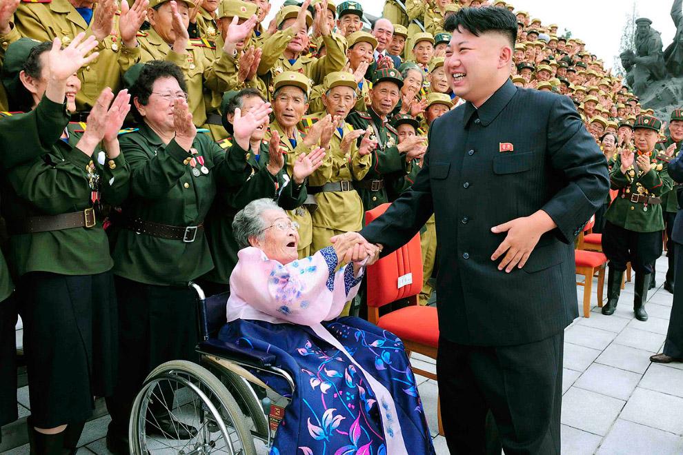 Фотосессия с ветеранами войны