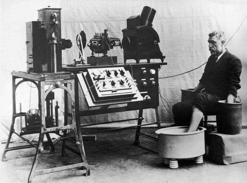 Так выглядел первый электрокардиограф