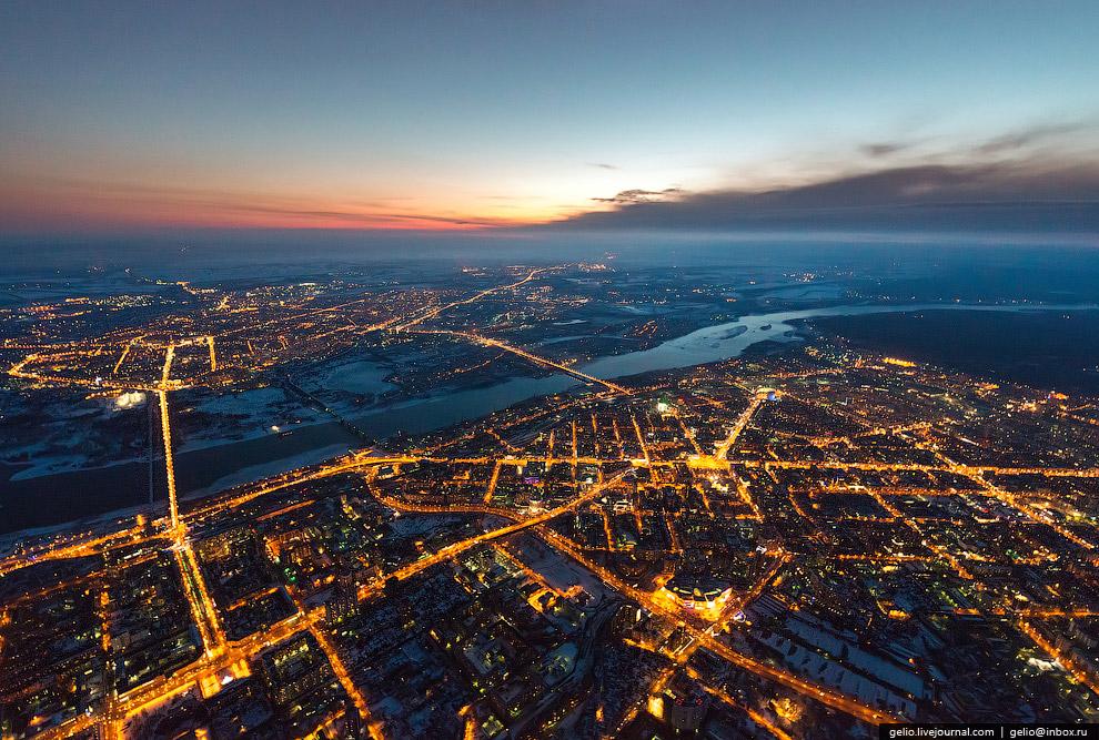 Новосибирск с вертолета