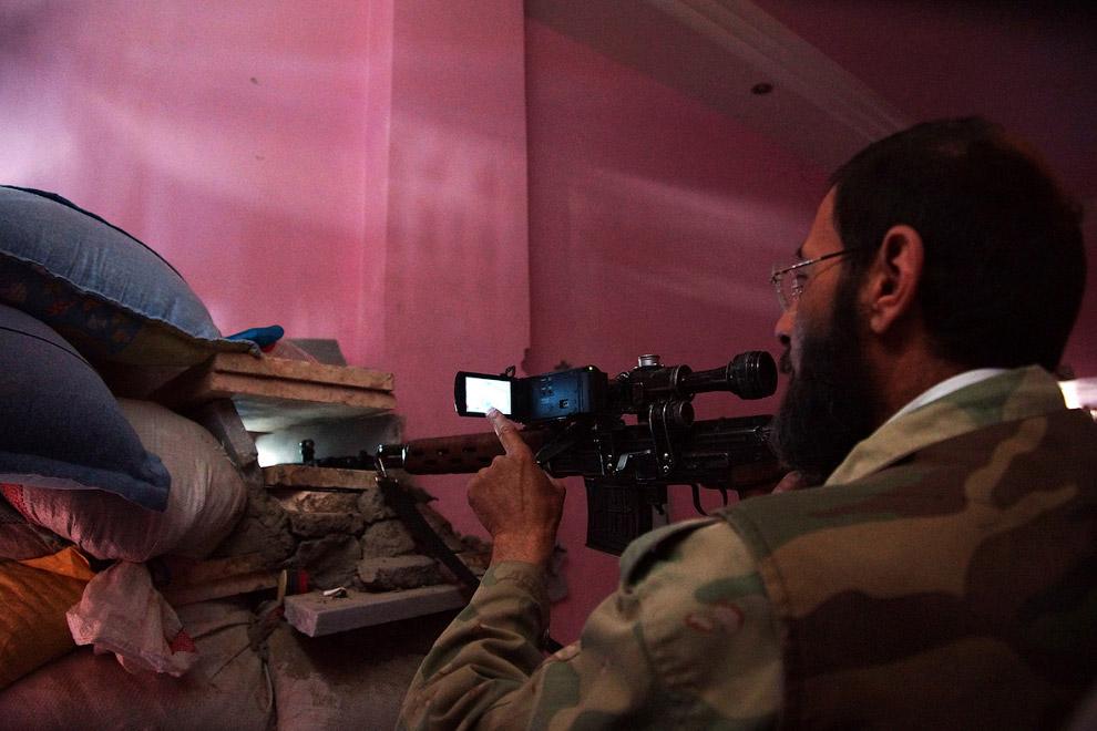 Прицеливание из ружья при помощи видеокамеры