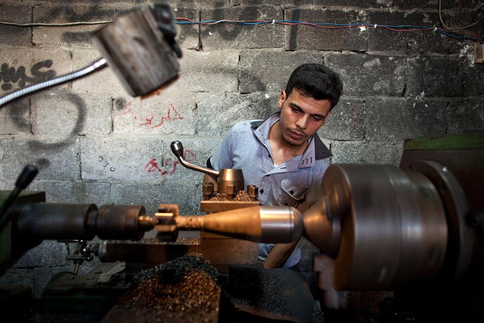 Так появляется самодельное оружие сирийских мятежников