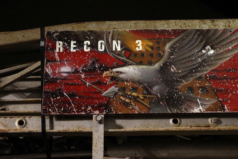 Искореженная пожарная машина Нью-Цорка