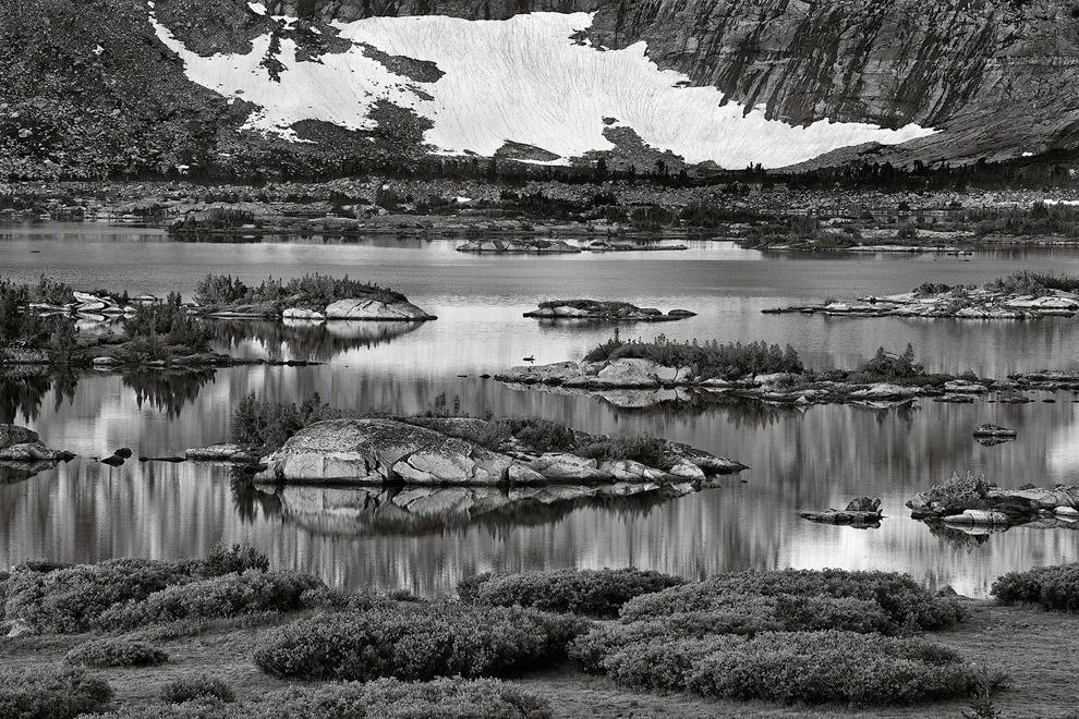 Озеро Тысячи островов в заповеднике Ансель Адамс