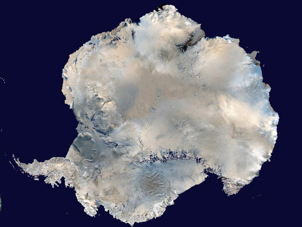 Антарктида. Вид из космоса