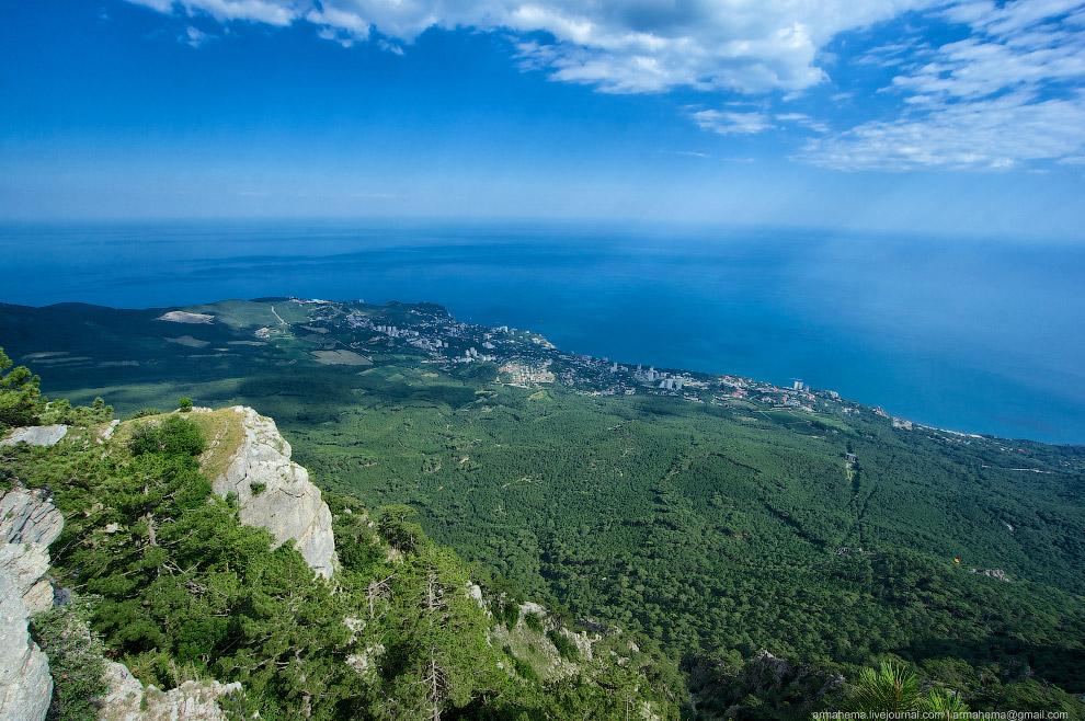 Вид со скалы Ай-Петри