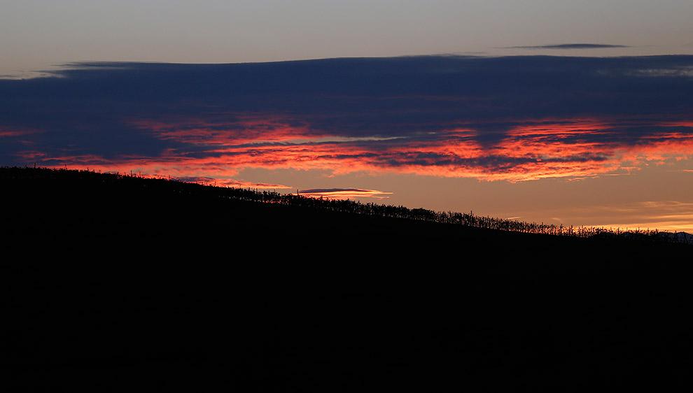 Закат на северо-западе Италии