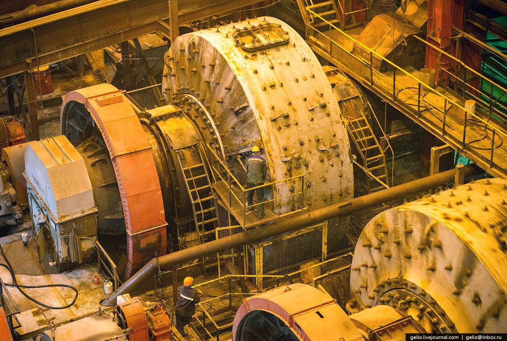 Диаметр мельницы — 7 метров