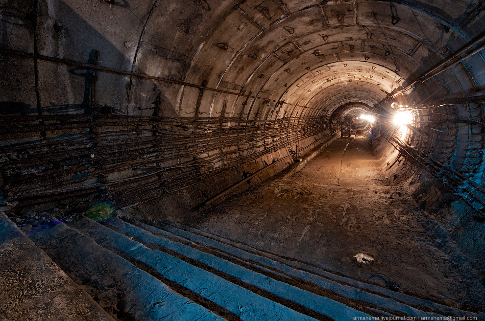 Недействующие туннели киевского метро