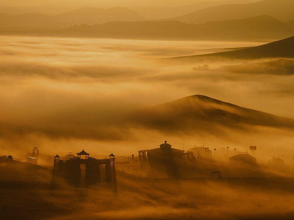 Туман на пастбищах, Внутренняя Монголия