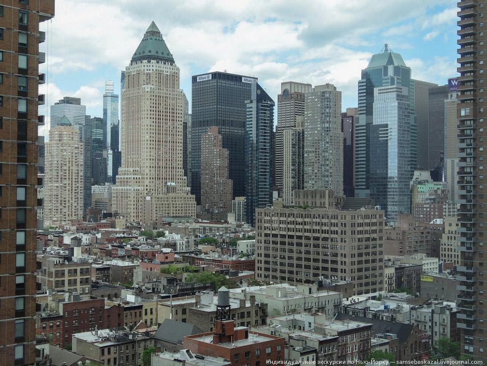Вид с 21-го этажа отеля Yotel на Манхеттене
