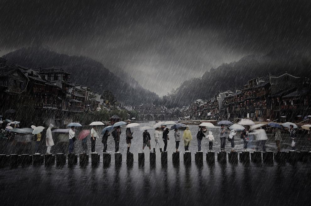 Дождь в древнем городе