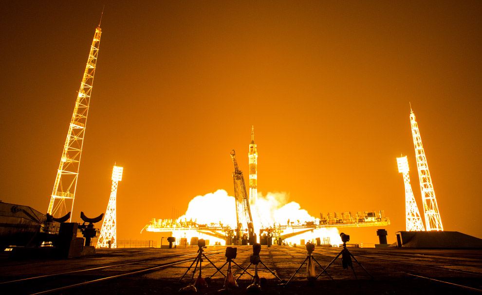 Старт космического корабля «Союз ТМА-13М»