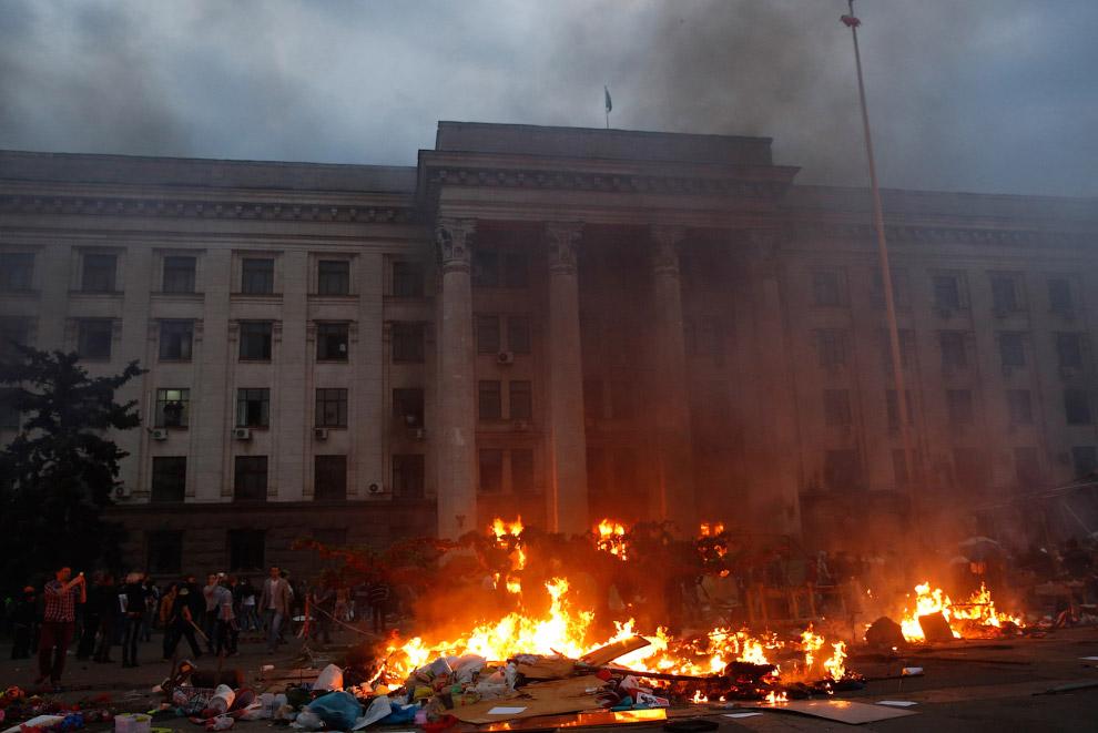 2 мая 2014 десятки активистов Антимайдана погибли во время пожара в здании Дома профсоюзов в Одессе