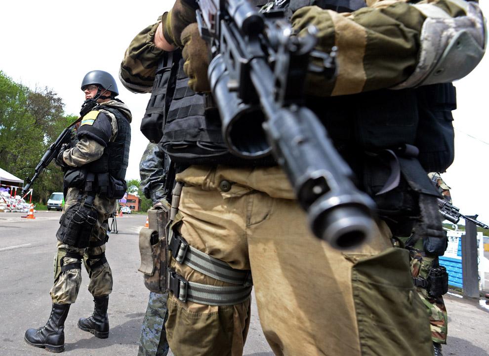 Украинские солдаты, Славянск