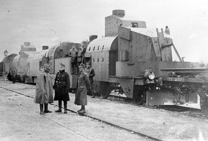 Австрийский бронепоезд в Галиции, 1915