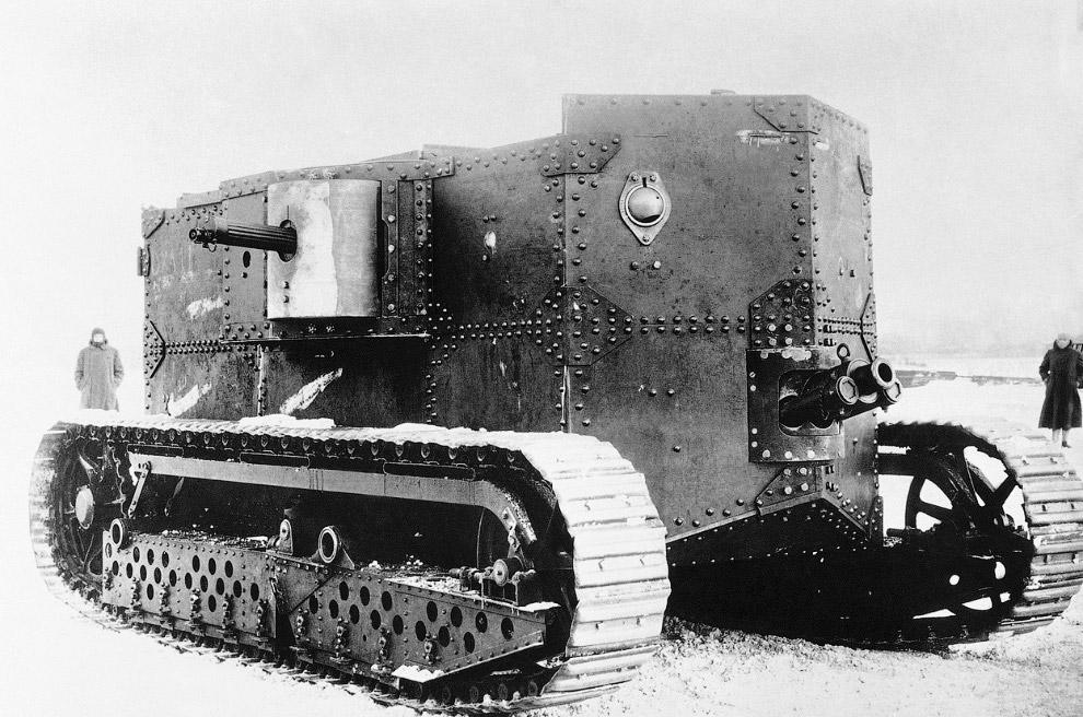 Оружие Первой мировой войны — американский бензино-электрический танк Хольт