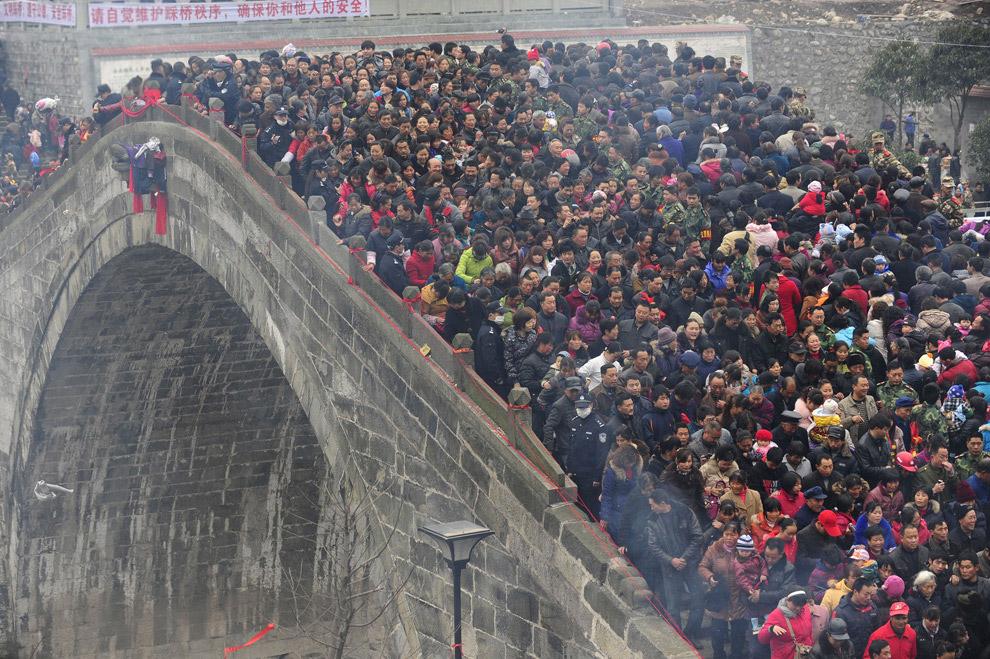 Мост в городском округе Мяньян, Китай