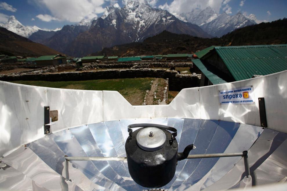Кипячение воды в чайнике с помощью солнечной энергии