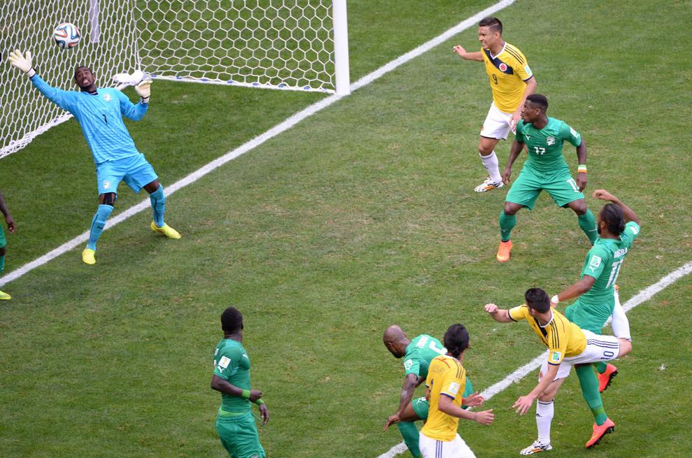 Заварушка у ворот и гол в ворота Кот-д'Ивуара