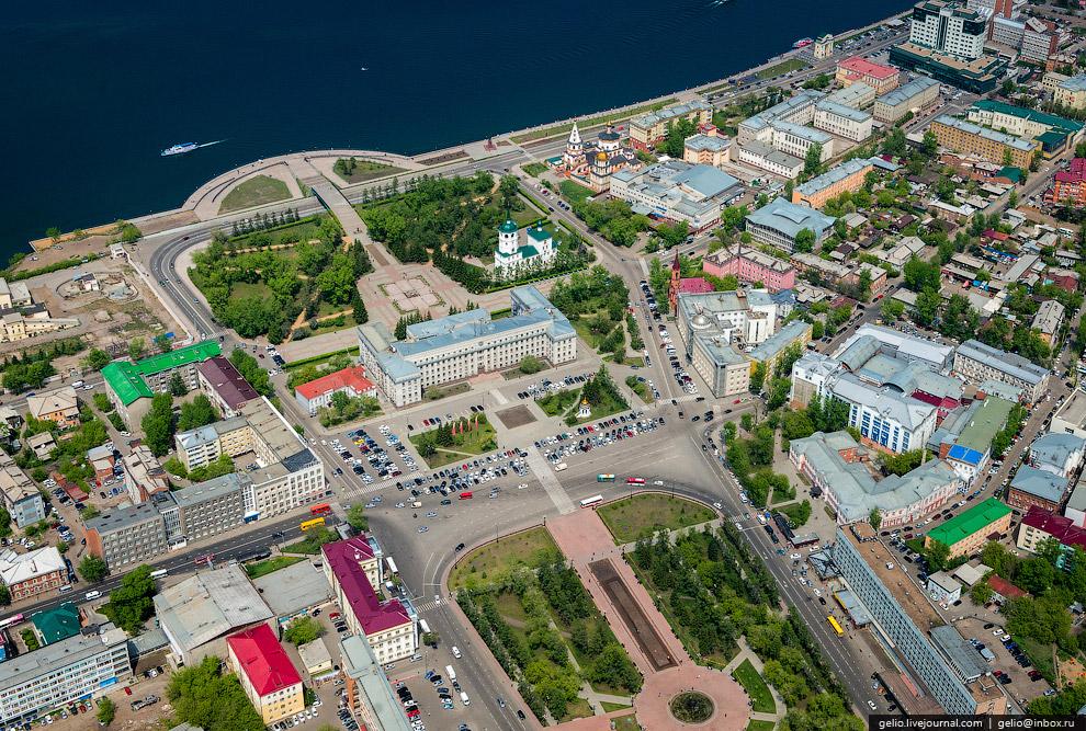 Площадь Кирова. Администрация Иркутской области