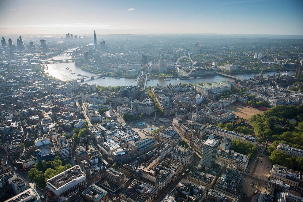 Трафальгарская площадь, Темза и Лондонский глаз