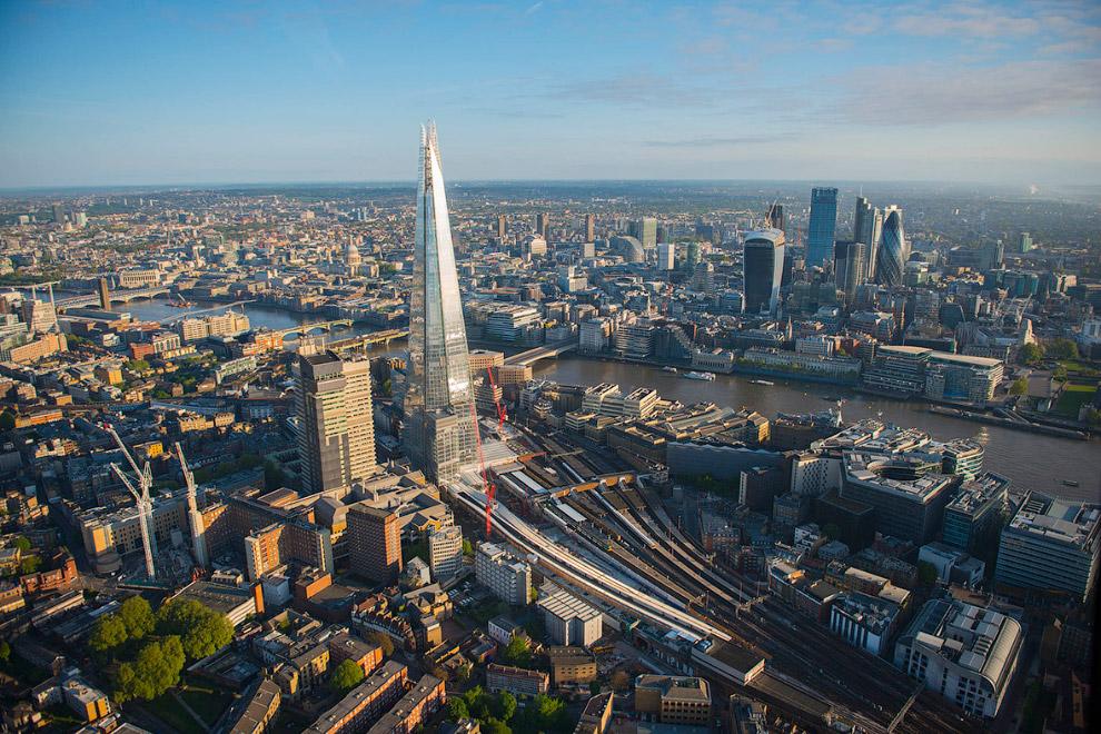Еще один вид на самое высокое здание в Лондоне — «Осколок»