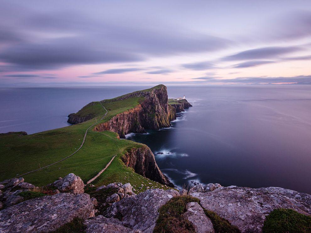 Маяк на острове Скай в Шотландии