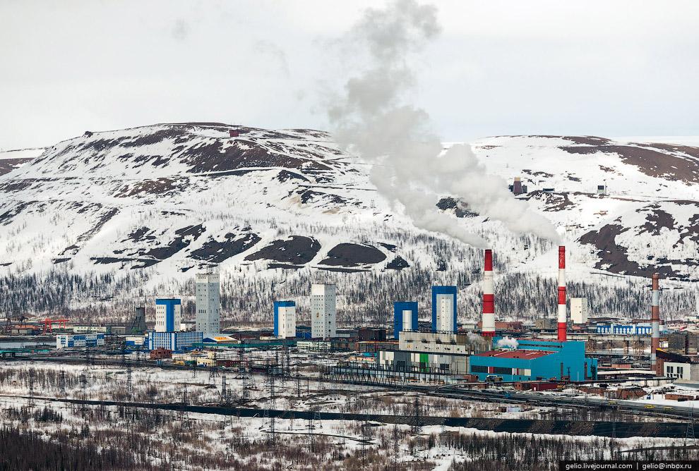 Рудники «Октябрьский» и «Таймырский» возле Талнаха