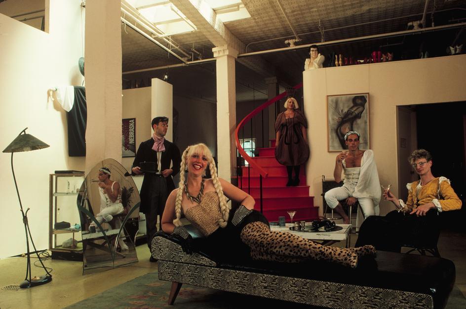 Модный парикмахер Франсина Хантер в своем лофте в Челси