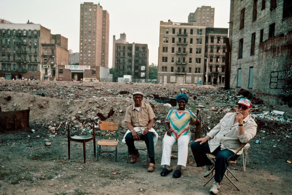 Разрушенные дома в Восточном Гарлеме