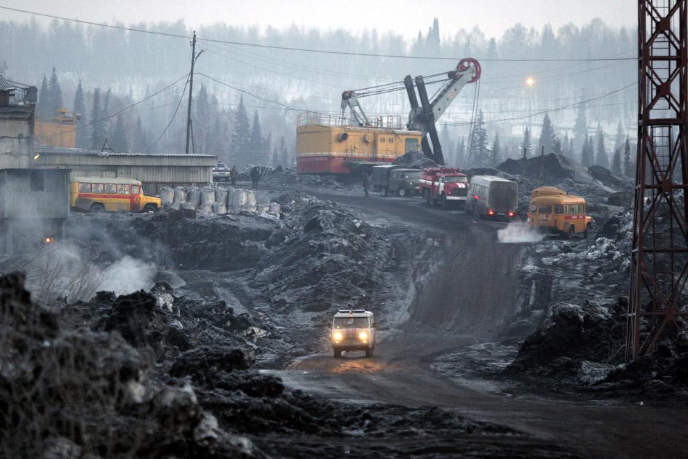 Ульяновская шахта недалеко от Новокузнецка