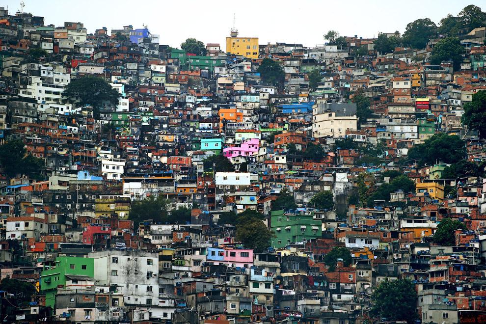 Фавелы в Рио-де-Жанейро, Бразилия