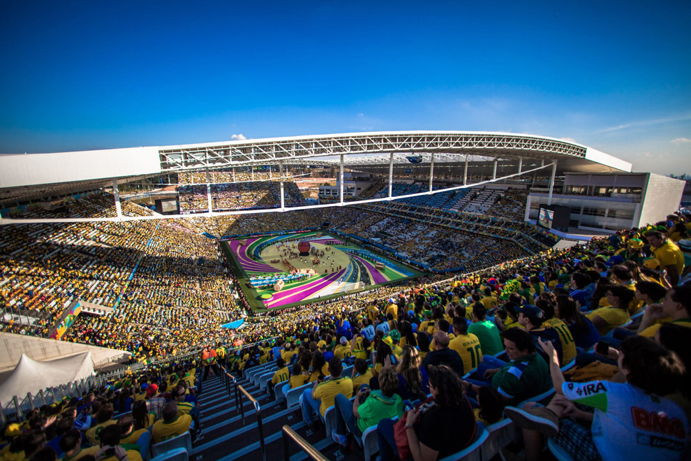 Церемония открытия ЧМ-2014 прошла на стадионе в Сан-Паулу
