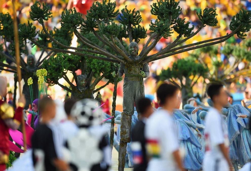 Церемония открытия юбилейного чемпионата мира по футболу