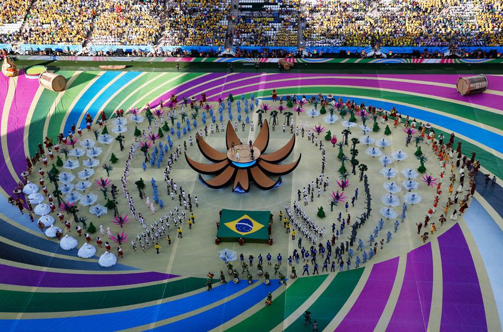 Общий вид на церемонию открытия
