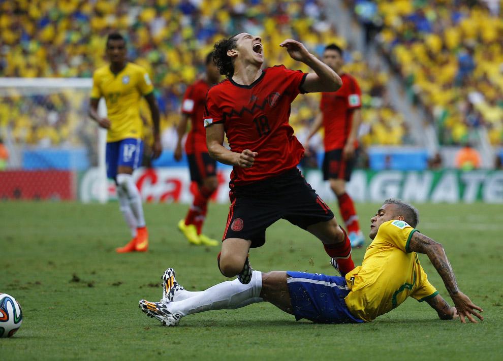 На матче Мексика-Бразилия