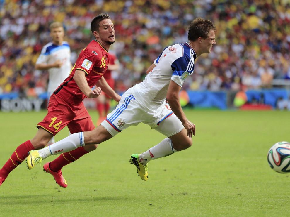 Матч Россия-Бельгия, в котором наша сборная уступила со счетом 0:1