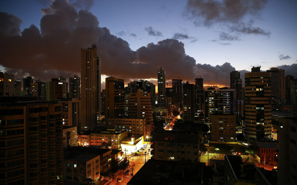Город Ресифи в Бразилии