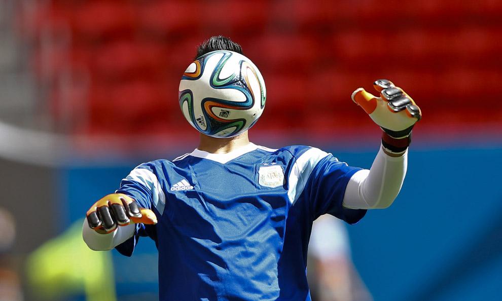 На тренировке аргентинской команды